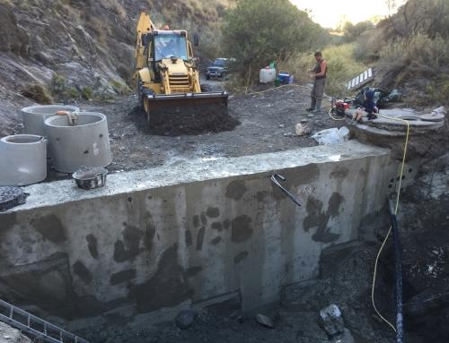 Sanierung Staumauer Oktober 2015